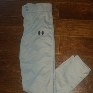Grey Under Armour Baseball Pants